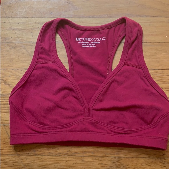 Beyond Yoga Other - Raspberry Beyond Yoga sports bra